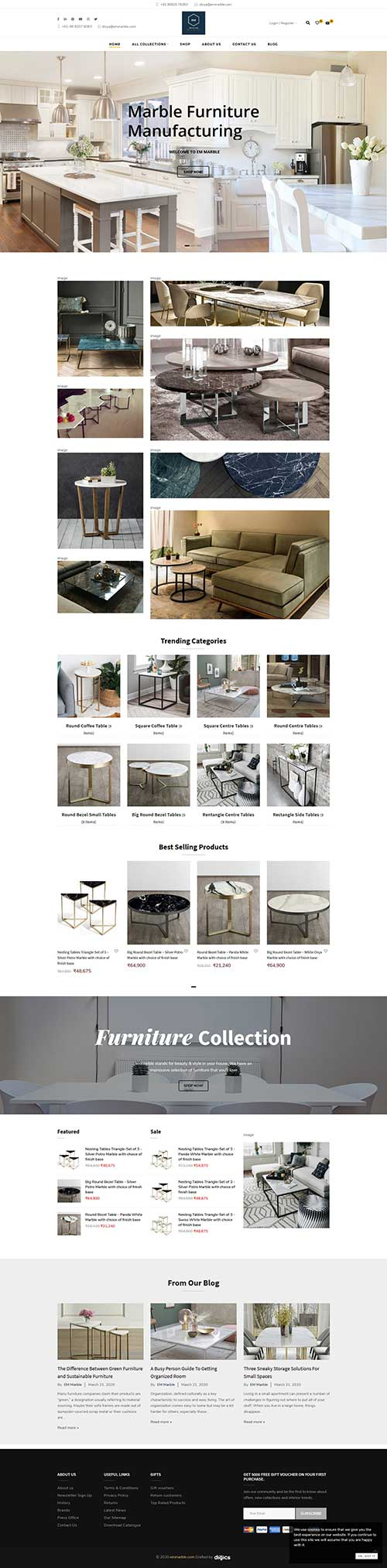 EM Marble Tables specialize in Furniture Manufacturing